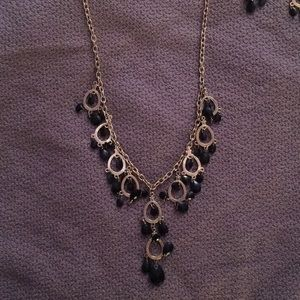 Black statement necklace + matching earrings